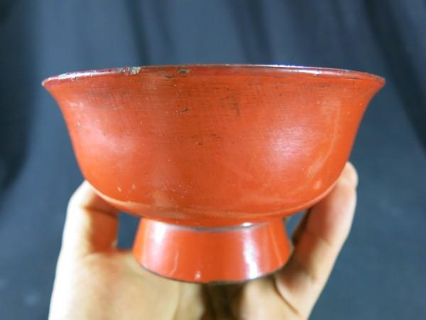 端反り根来椀② 江戸時代初期 漆器 木工 仏教 寺院_画像1