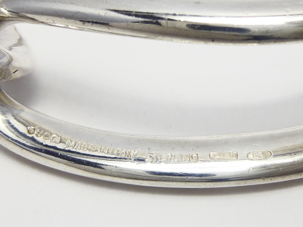 GUCCIグッチ SV925 シルバーバングル ヴィンテージ ブレスレット スターリング レア_画像9