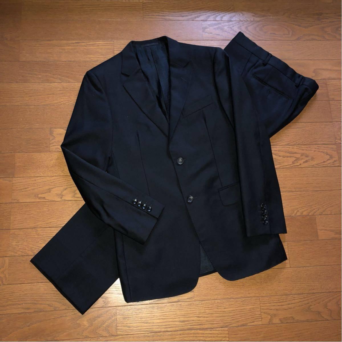 【美品】イタリア製 正規品 GUCCIグッチ スーツ ブラック46