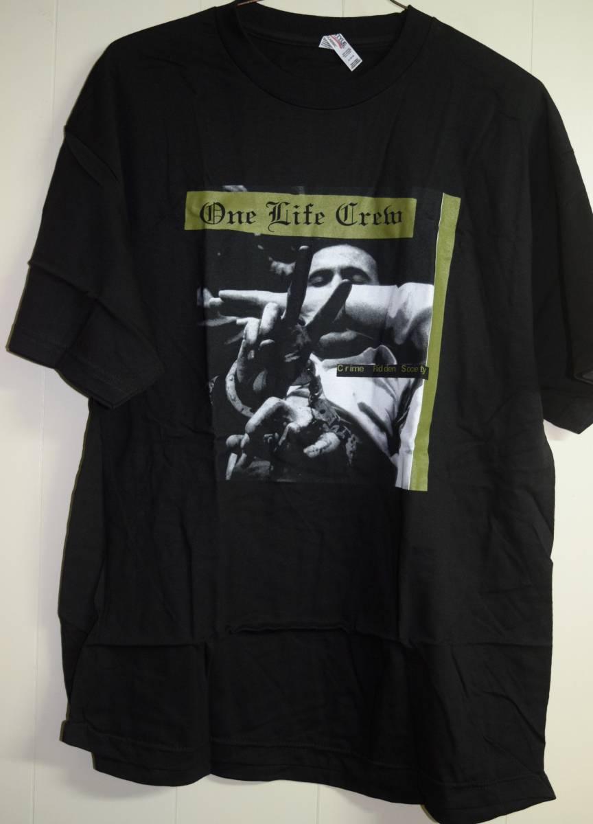 新品即決ONE LIFE CREW Tシャツ NYHC HARDCORE PUNK STRAIGHT EDGE SxE DMS SKARHEAD MADBALL AGNOSTICFRONT HATEBREED TERROR