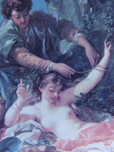フランソワ ブーシェ、【アミンタスに救われたシルヴィア】、希少画集より、状態良好、新品高級額装付、絵画 送料無料_画像2