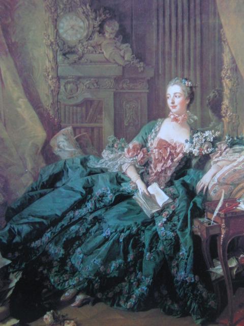 フランソワ ブーシェ、【マダム・ド・ポンパドゥール】、希少画集より、状態良好、新品高級額装付、絵画 送料無料_画像1