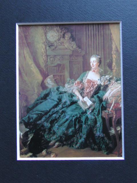 フランソワ ブーシェ、【マダム・ド・ポンパドゥール】、希少画集より、状態良好、新品高級額装付、絵画 送料無料_画像3