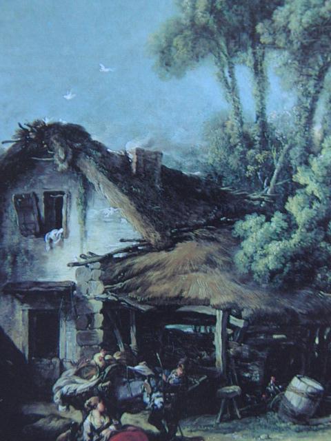 フランソワ ブーシェ、【ボーヴェあたりの風景】、希少画集より、状態良好、新品高級額装付、絵画 送料無料_画像2