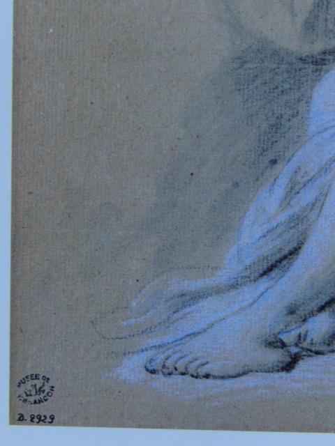 フランソワ ブーシェ、【ベッドに横たわる裸婦】、希少画集より、状態良好、新品高級額装付、絵画 送料無料_画像2