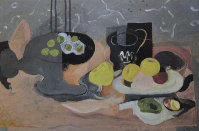 ジョルジュ・ブラック、【果物入れと果物】、希少画集画より、状態良好、新品高級額装付、送料無料、油絵 油彩 静物画_画像1