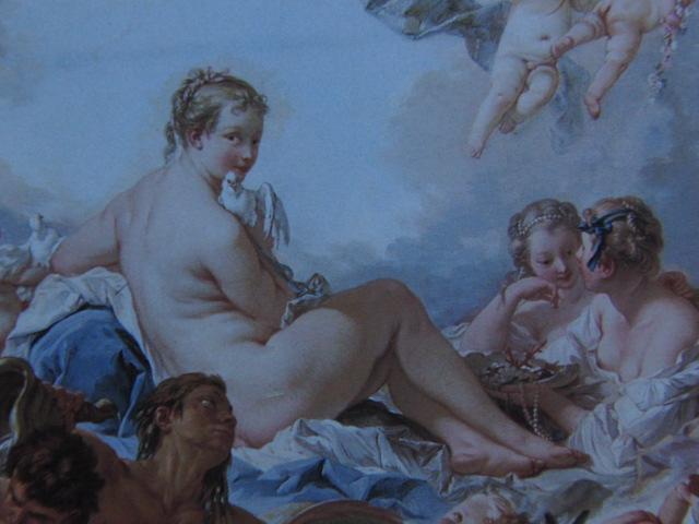 フランソワ ブーシェ、【ヴィーナスの誕生と勝利】、希少画集より、状態良好、新品高級額装付、絵画 送料無料_画像2