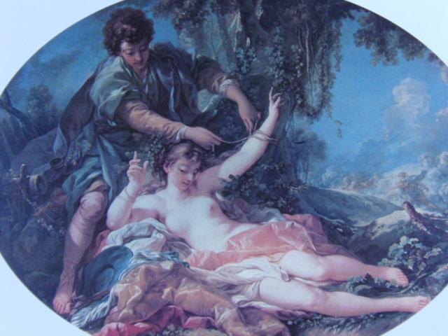 フランソワ ブーシェ、【アミンタスに救われたシルヴィア】、希少画集より、状態良好、新品高級額装付、絵画 送料無料_画像1