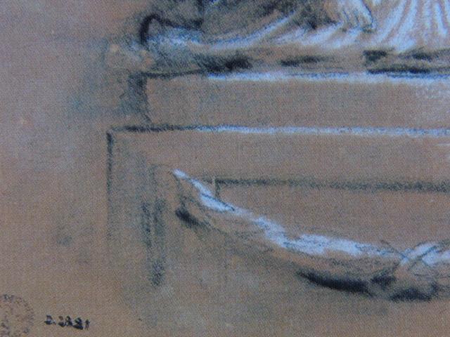フランソワ ブーシェ、【横顔の入ったメダイヨン】、希少画集より、状態良好、新品高級額装付、絵画 送料無料_画像2
