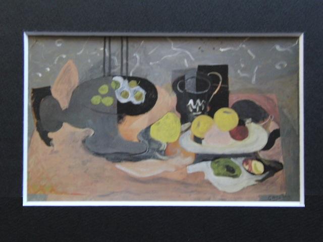 ジョルジュ・ブラック、【果物入れと果物】、希少画集画より、状態良好、新品高級額装付、送料無料、油絵 油彩 静物画_画像3