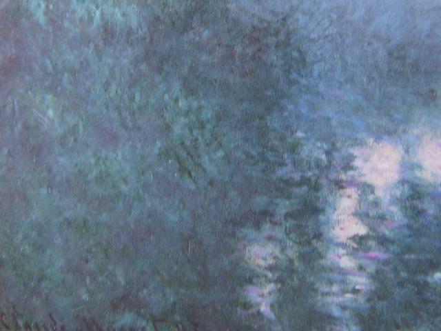 クロード・モネ、【セーヌ河の朝(ジヴェルニーのセーヌ河支流)】、希少画集画より、状態良好、新品高級額装付、送料無料、油絵 油彩 風景_画像2