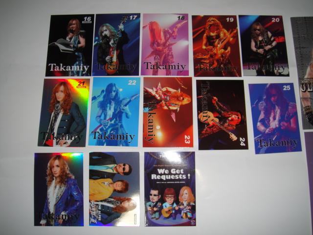 高見沢俊彦 Takamiy トレカ トレーディングカード No16~No25+2枚 THE ALFEE ポストカードのおまけ付き