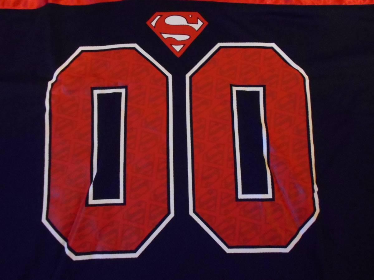 スーパーマン フットボールシャツ XLサイズ (DC コミックス comics ジャージ superman アメコミ_画像4