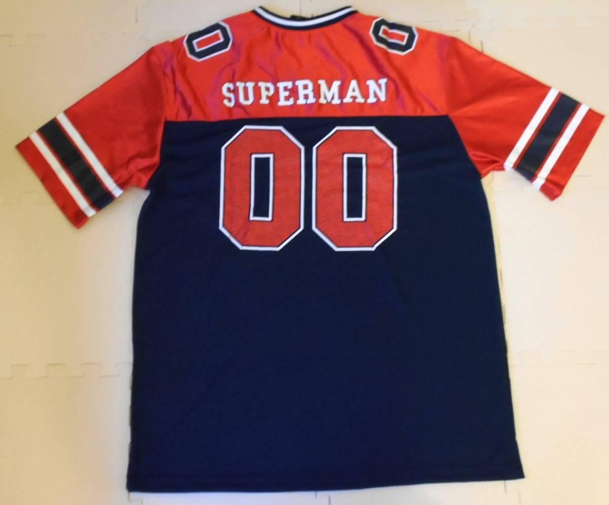 スーパーマン フットボールシャツ XLサイズ (DC コミックス comics ジャージ superman アメコミ_画像2