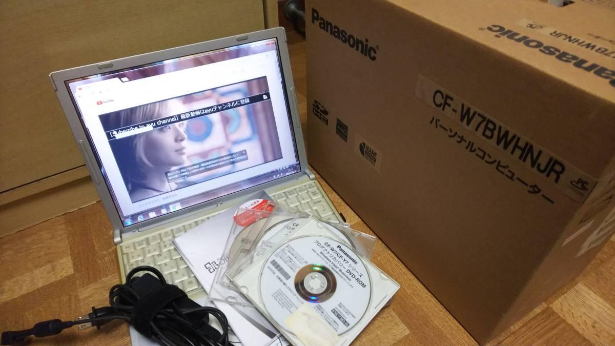 ◆◇[ジャンク]Panasonic Let's note CF-W7 メモリ2GB 12.1型液晶 Windows 7 Professional◇◆