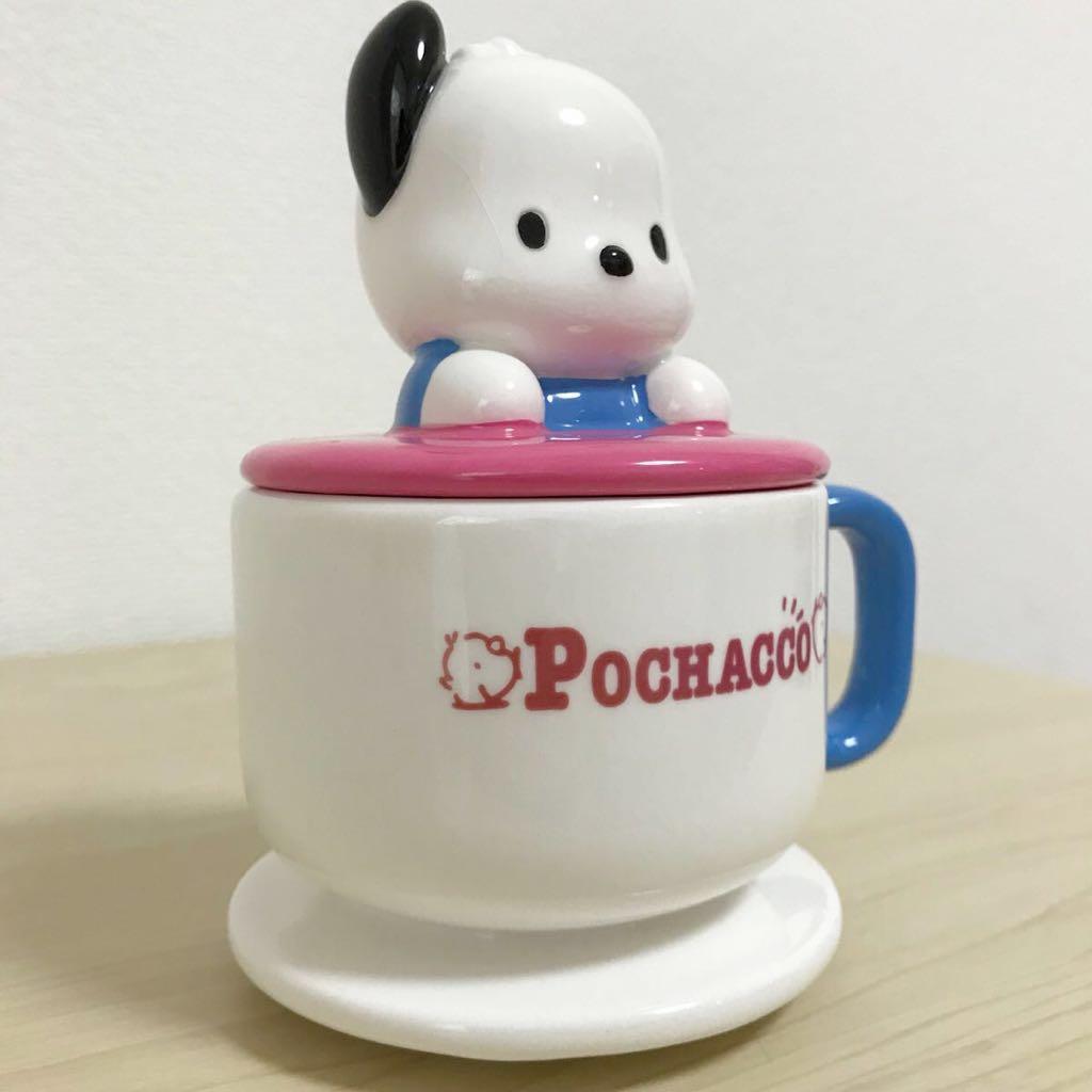 ポチャッコ☆蓋付きマグカップ 陶器 マスコット コップ グッズ 当時物 レトロ 1998年 サンリオ