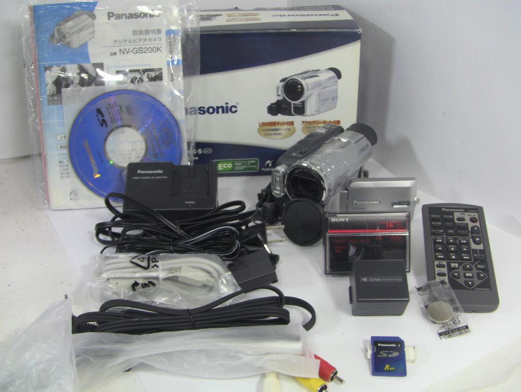 ダビングに!【動作確認済み】再生OK・録画OK Panasonic MiniDVビデオカメラ NV-GS200+付属品フルセット/0615