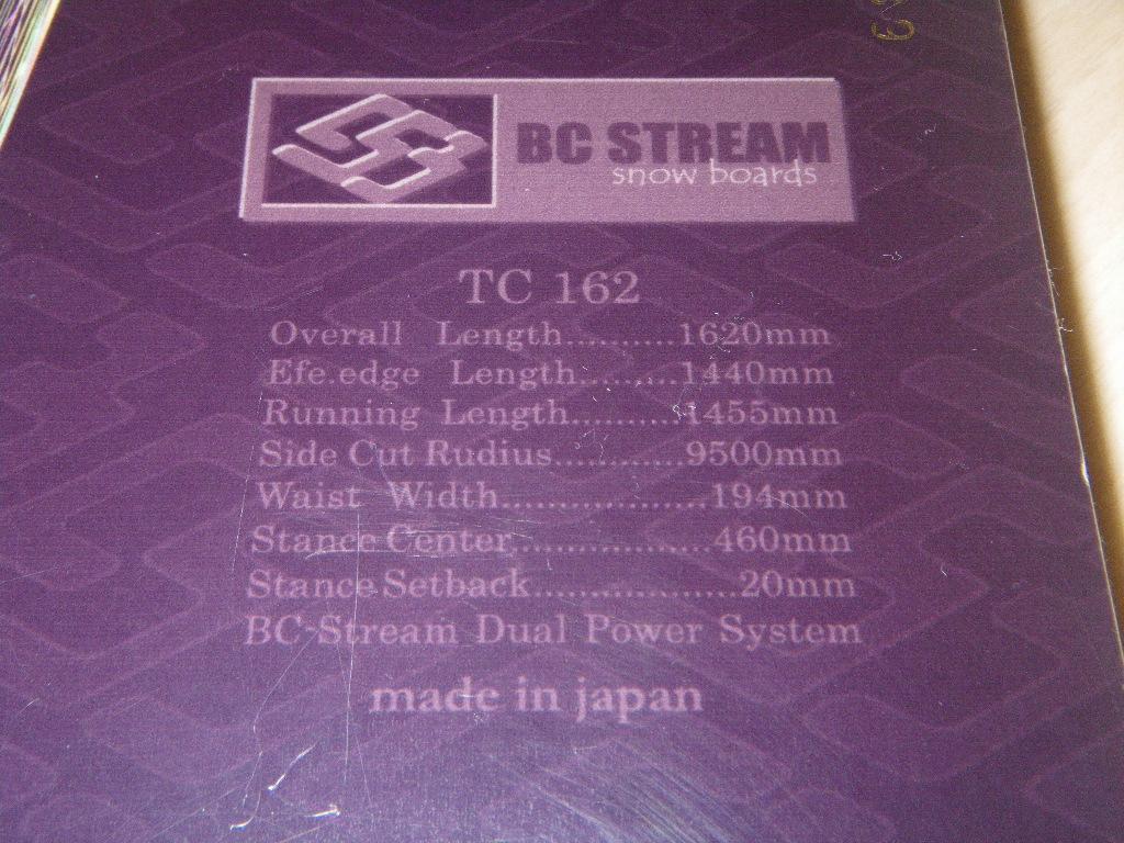 162 BC STREAM speed board racing alpine スピード レーシングボード アルペン ストリーム_画像4