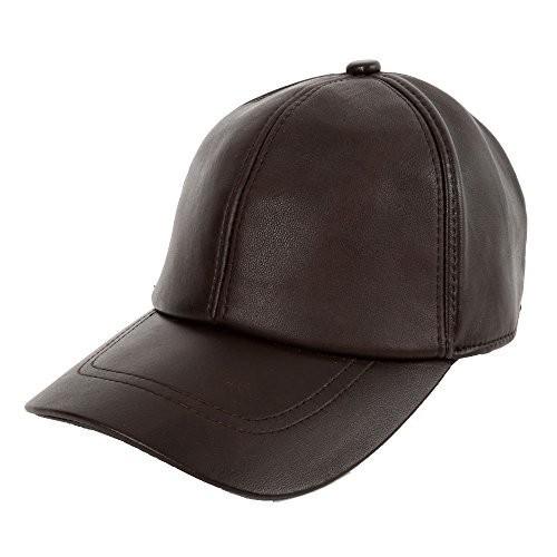 [送料500円] ARARAGI 本革 羊皮 シンプル 帽子 キャップ ハット ラムレザー 100% ブラウン.. 923A