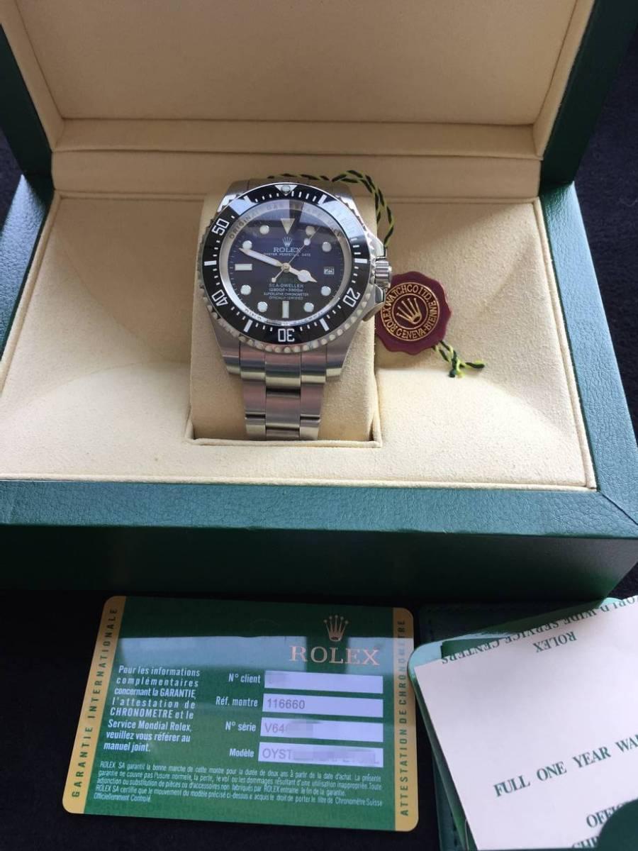 ロレックス 116660 シードゥエラー ディープシー デイト ブラック/ブルー文字盤 メンズ 腕時計 中古品