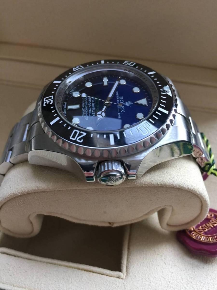 ロレックス 116660 シードゥエラー ディープシー デイト ブラック/ブルー文字盤 メンズ 腕時計 中古品_画像4