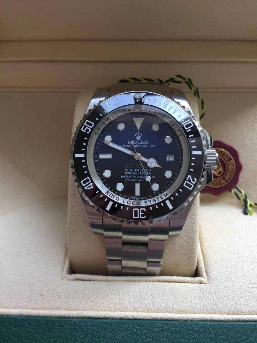 ロレックス 116660 シードゥエラー ディープシー デイト ブラック/ブルー文字盤 メンズ 腕時計 中古品_画像2