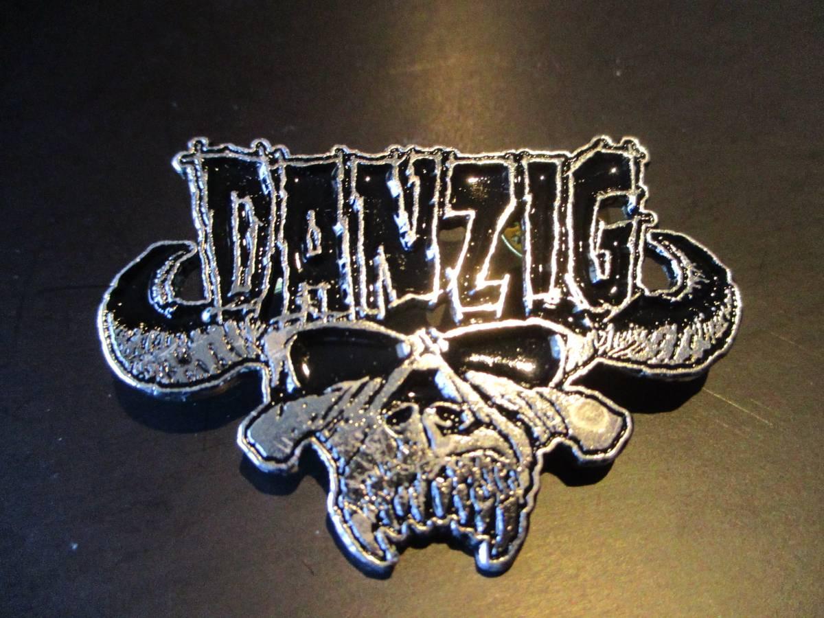 DANZIG メタルピンバッジ logo ダンジグ / misfits undead samhain