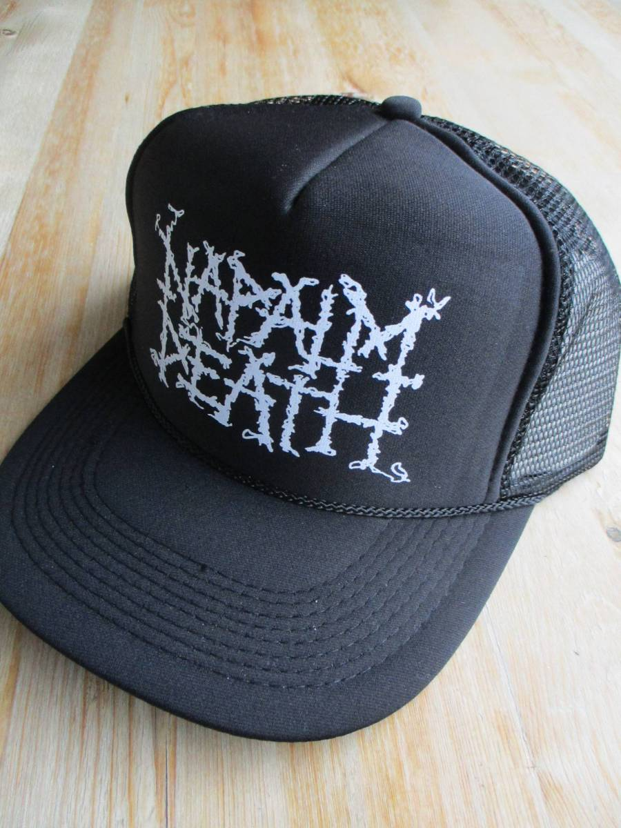 NAPALM DEATH メッシュ キャップ cap 黒 / carcass terrorizer earache brutal truth dropdead anal cunt