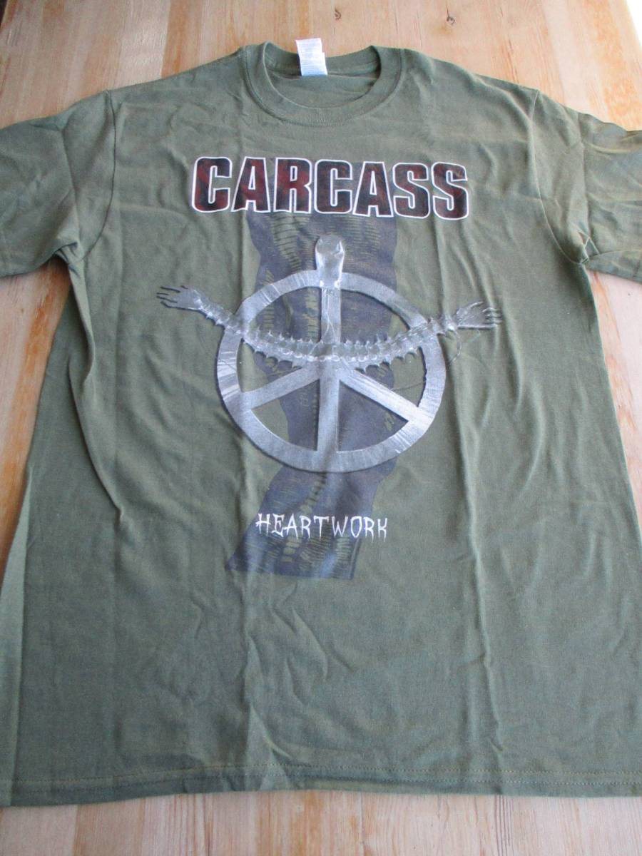 CARCASS Tシャツ heartwork 緑M カーカス / napalm death brutal truth terrorizer earache septic death