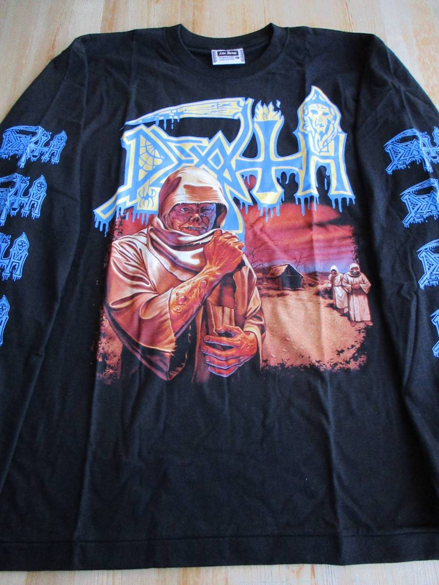 DEATH 長袖 Tシャツ leprosy 黒L ロンT デス / slayer sodom possessed venom bathory morbid angel master