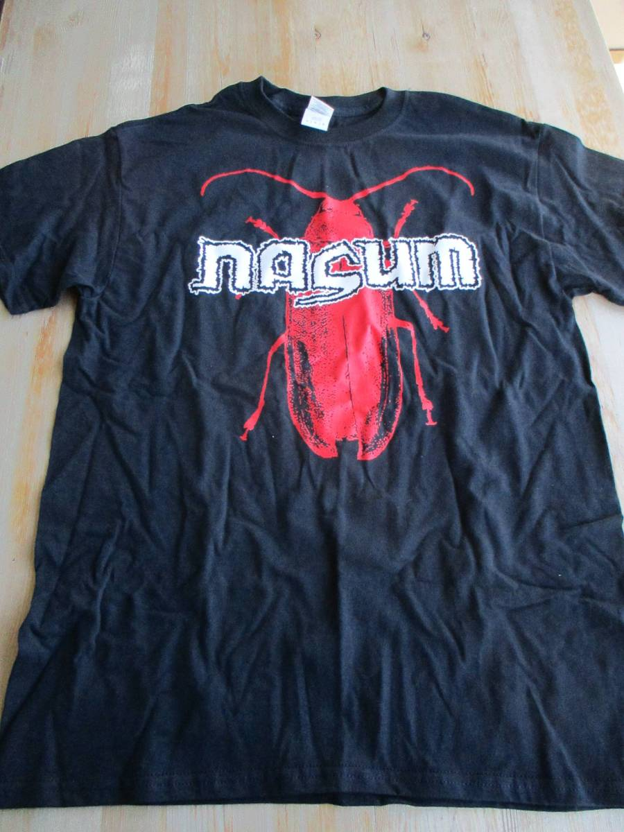 NASUM Tシャツ ナザム 黒M オフィシャル / napalm death terrorizer brutal truth entombed no comment crossed out infest spazz