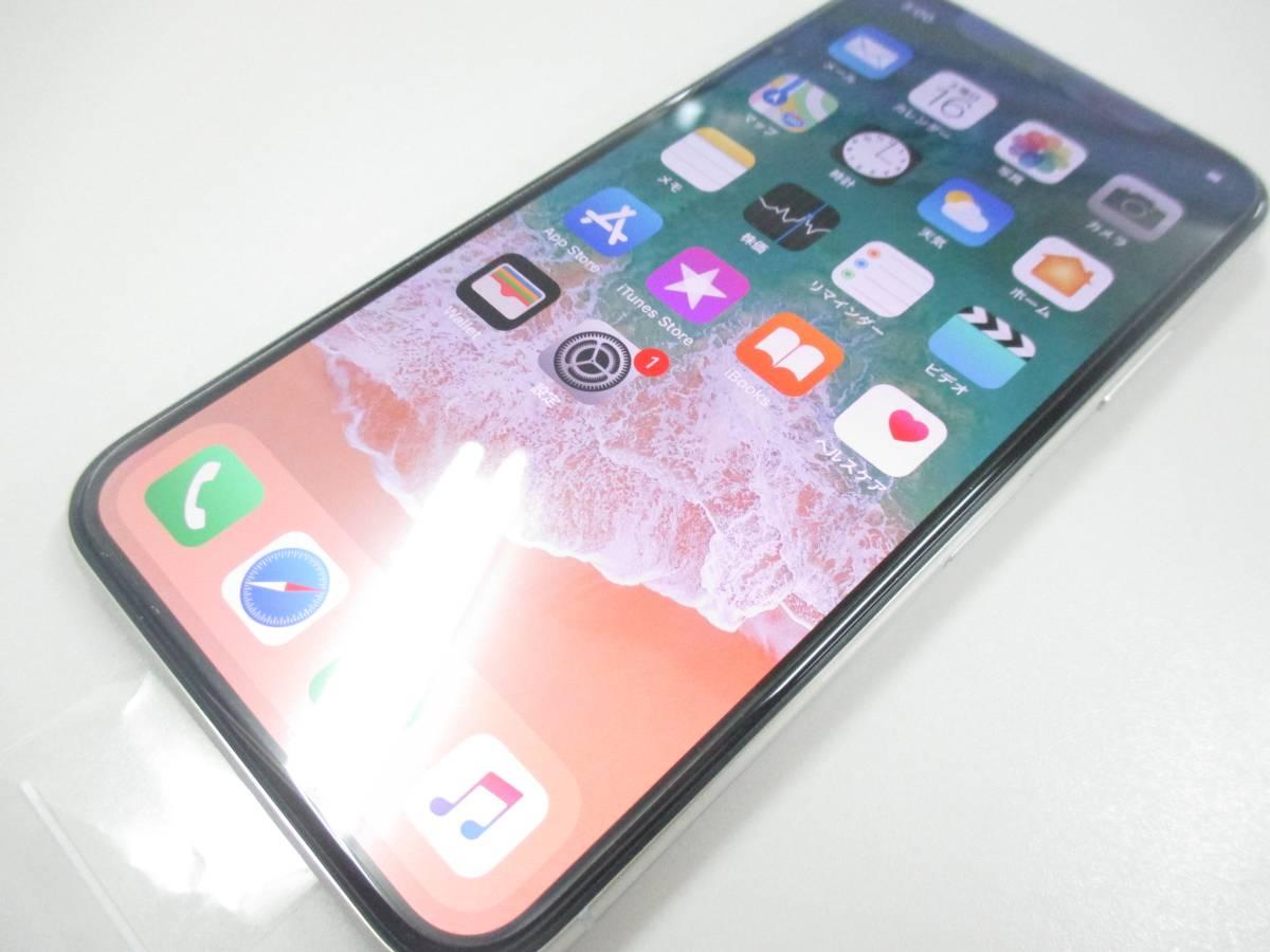 ◆◇1スタ au APPLE iPhoneX 256GB NQC22 シルバー ジャンク品◇◆