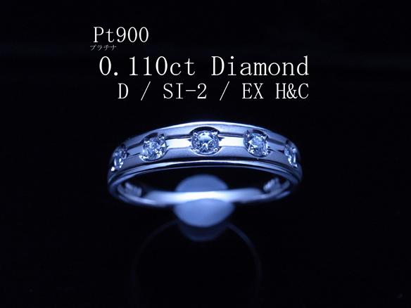最落無 極希少 全て最高最上級Dカラー EX H&C大粒天然ダイヤ鑑付
