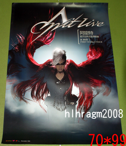 張惠妹 アーメイ A-Mei Amit Live 阿密特首次亞洲巡迴演唱會 告知ポスター
