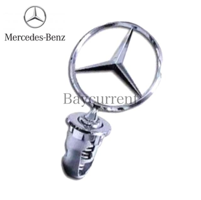 【正規純正品】 Mercedes-Benz ベンツ フロント メルセデス スター マスコット エンブレム W123 W124 W126 W201 1248800086_安心の正規純正品