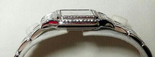 【本物】カルティエ Cartier K18WG パンテール 二重ダイヤモンド ベゼル レディース 腕時計 美品 質屋さんにて購入 送料無料_画像5