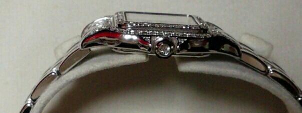 【本物】カルティエ Cartier K18WG パンテール 二重ダイヤモンド ベゼル レディース 腕時計 美品 質屋さんにて購入 送料無料_画像4