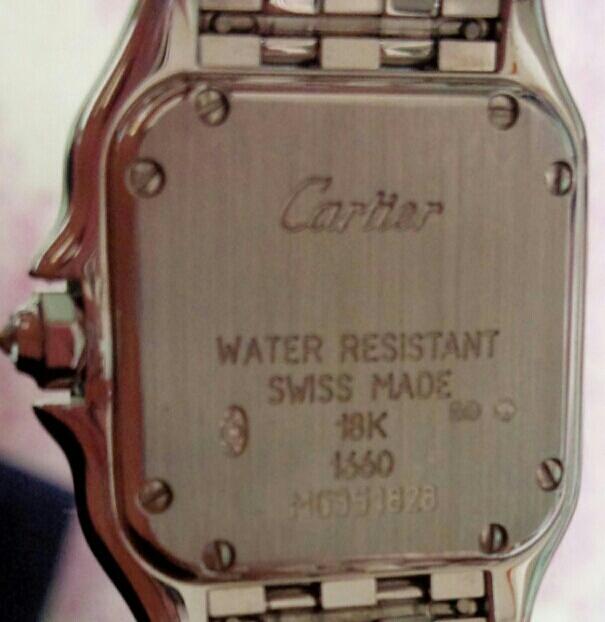 【本物】カルティエ Cartier K18WG パンテール 二重ダイヤモンド ベゼル レディース 腕時計 美品 質屋さんにて購入 送料無料_画像2