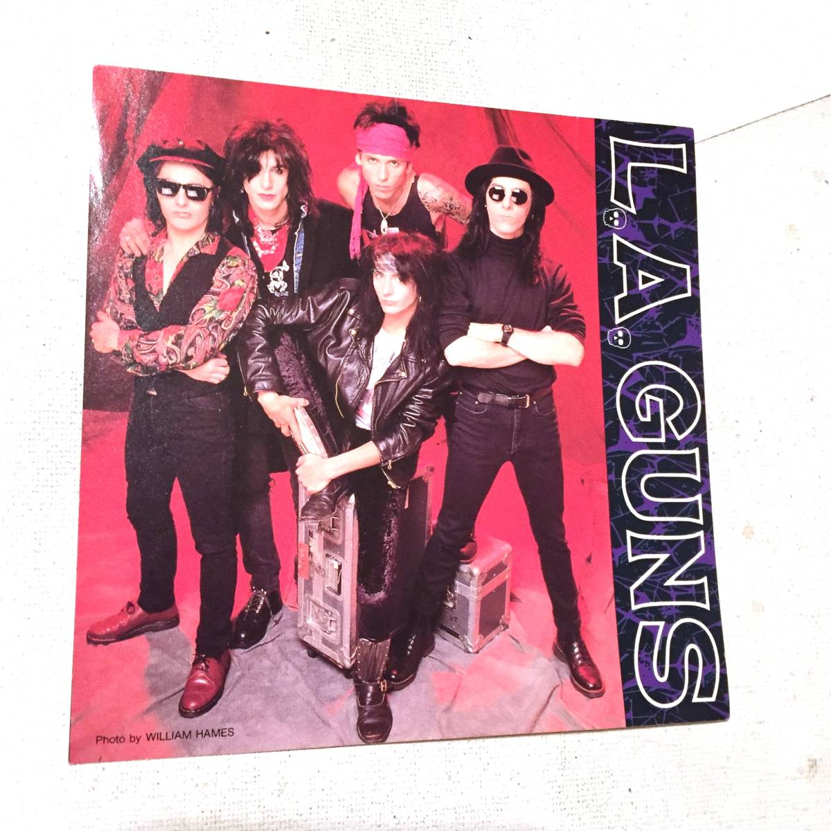 L.A. GUNS ガンズ ステッカー CD初回特典