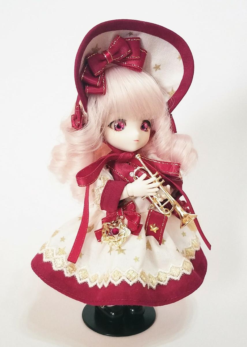 ☆オビツ11サイズお洋服☆starry orchestraワンピース(ボルドー)