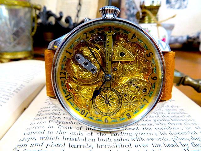 """Engrave!! パテック フィリップの""""彫金 """" アンティーク懐中時計の機械を用いて ヴィンテージ 機械式 手巻き ウォッチ ゴールド_画像2"""
