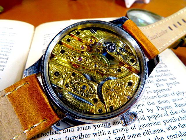 """Engrave!! パテック フィリップの""""彫金 """" アンティーク懐中時計の機械を用いて ヴィンテージ 機械式 手巻き ウォッチ ゴールド_画像6"""