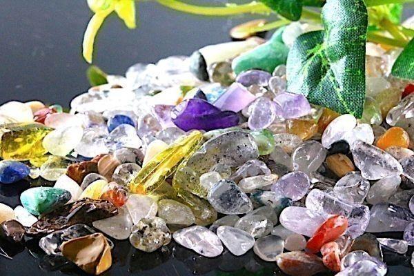 【送料無料】 200g さざれ 小サイズ ミックスジェムストーン 水晶 パワーストーン 天然石 ブレスレット 浄化用 さざれ石 チップ ※2_画像4
