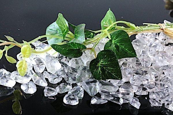 【送料無料】メガ盛り 800g さざれ 大サイズ AAAランク クオーツ 水晶 パワーストーン 天然石 ブレスレット 浄化用 さざれ石 チップ ※2_画像4
