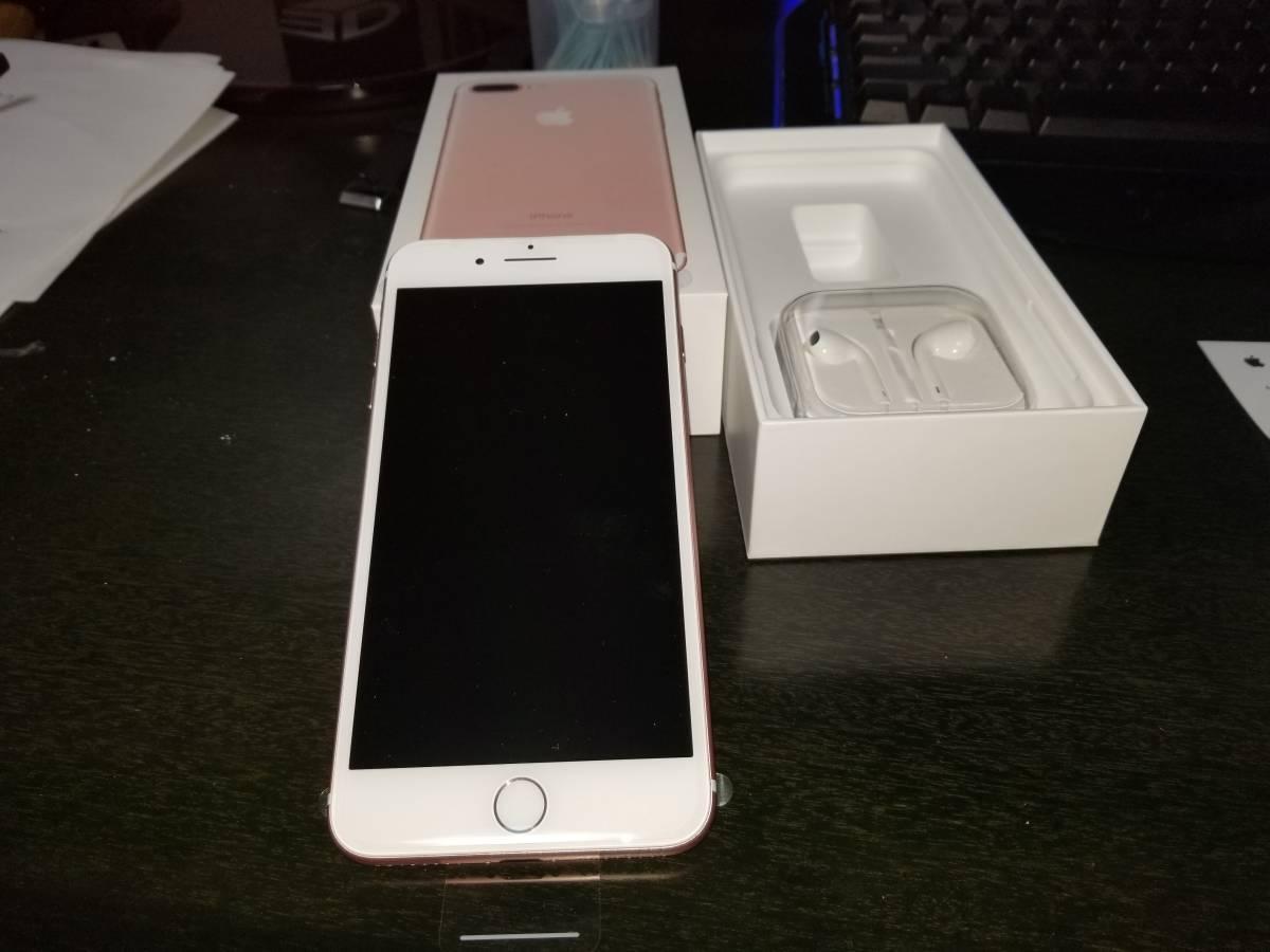 超美品】iPhone 7 Plus 256GB ローズゴールド AppleStore一括購入 SIMフリー国内版 付属品新品 MN6P2J/A 充電器のみが欠品