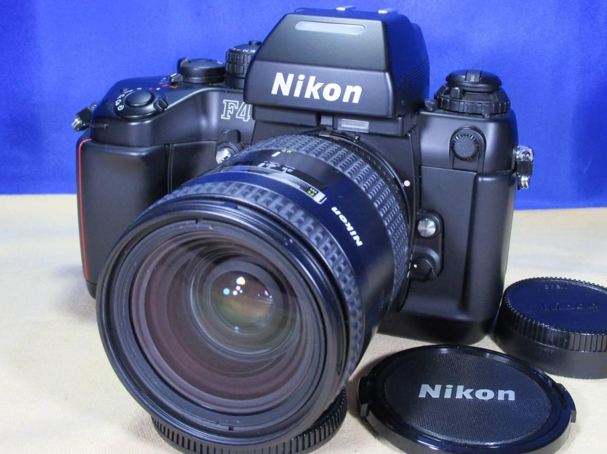 ニコン Nikon F4 ボディ / Nikon AF NIKKOR 28-85mm F3.5-4.5 美品 / E-64