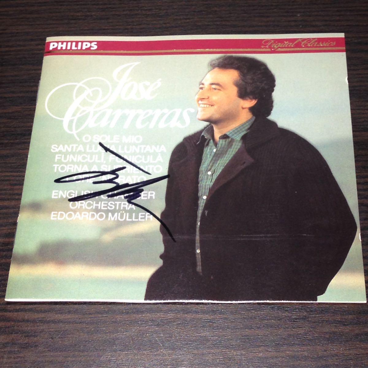 ホセ・カレーラス Jose Carreras 直筆サイン入りCD 輸入盤