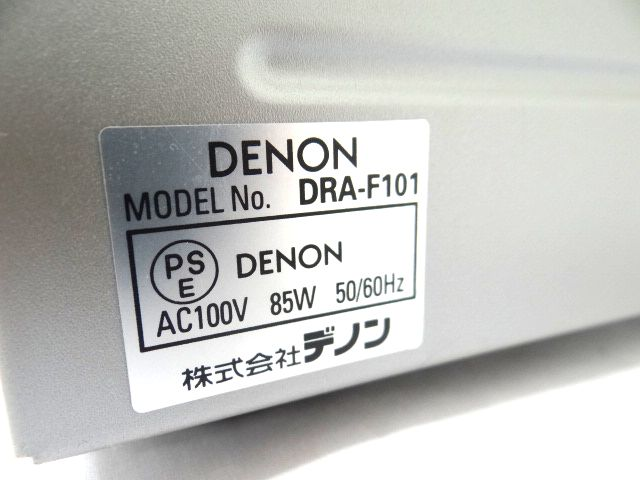 DENON DRA-F101 デノン レシーバーアンプ オーディオ機器 通電確認済み 難有 ジャンク扱い 赤白コード1組セット kh05-DA12_画像7
