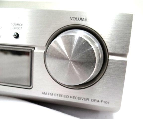 DENON DRA-F101 デノン レシーバーアンプ オーディオ機器 通電確認済み 難有 ジャンク扱い 赤白コード1組セット kh05-DA12_画像4