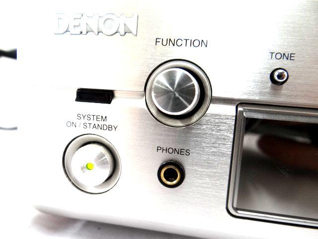 DENON DRA-F101 デノン レシーバーアンプ オーディオ機器 通電確認済み 難有 ジャンク扱い 赤白コード1組セット kh05-DA12_画像2